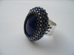 brede ring blauwe cab